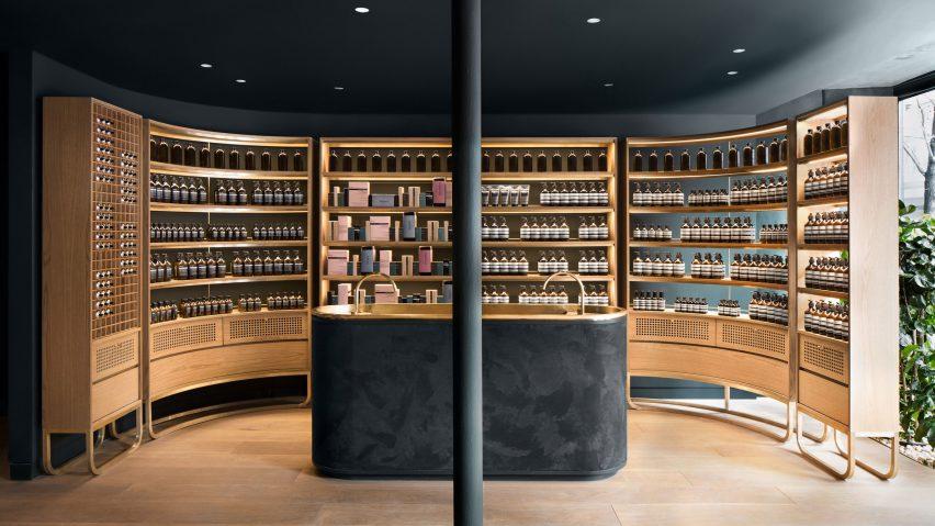 skincare cosmetic store design