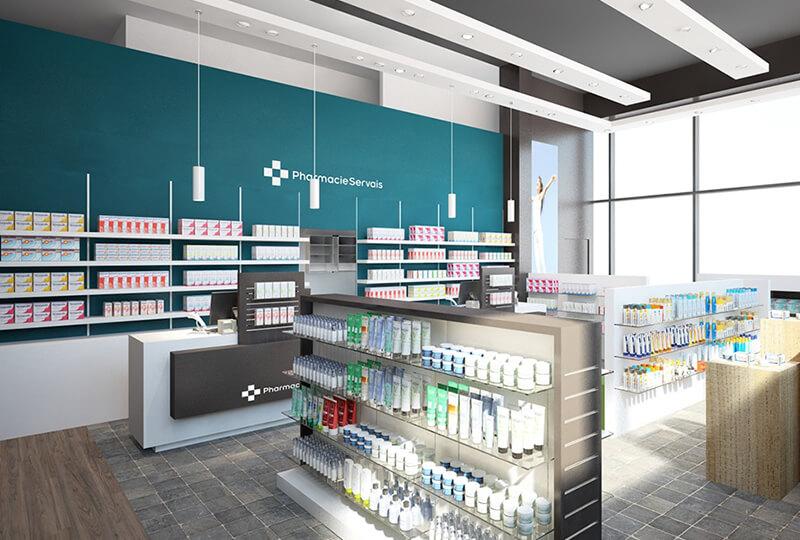 pharmacy store design