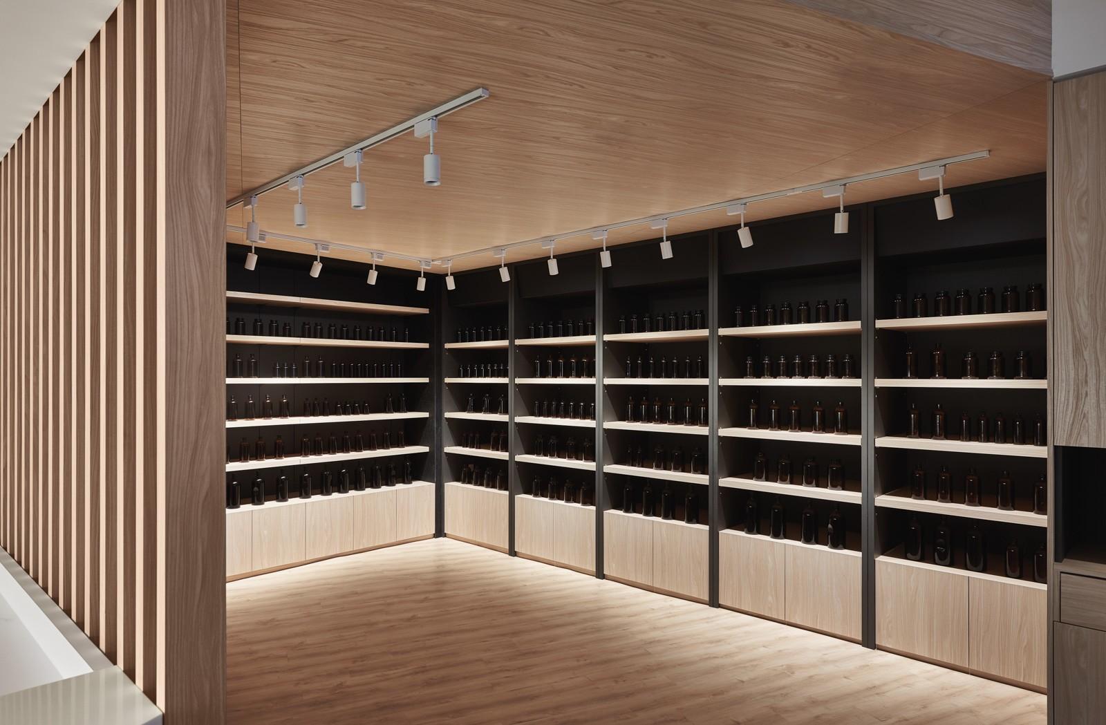 Wood Pharmacy Casework Concept