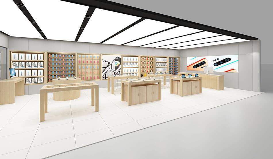 modern apple shop  design
