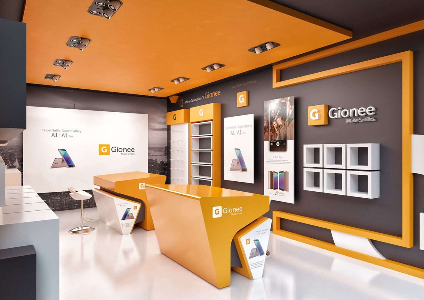 Gionee phone  store design