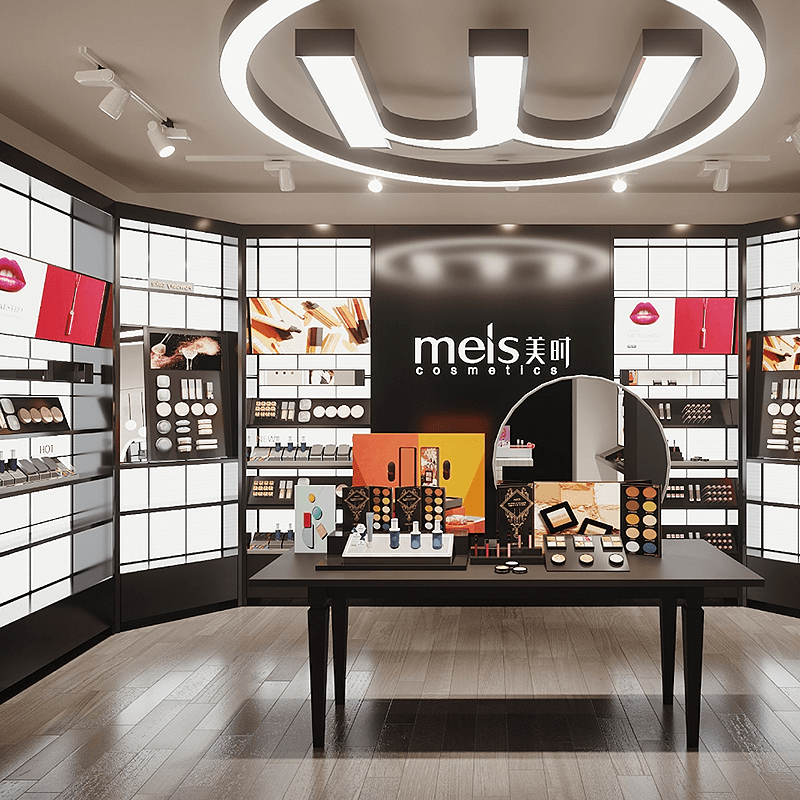 Cosmetic Open-plan Shop Design & Functional Display Counter in Cosmetic Store