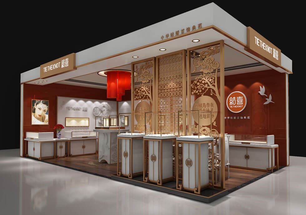 Jewelry booth for wedding ring