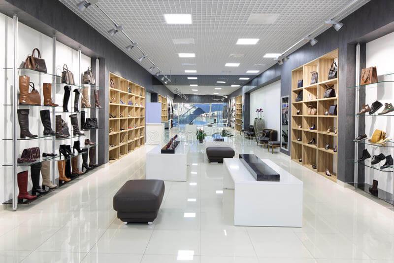 shoe shop stands