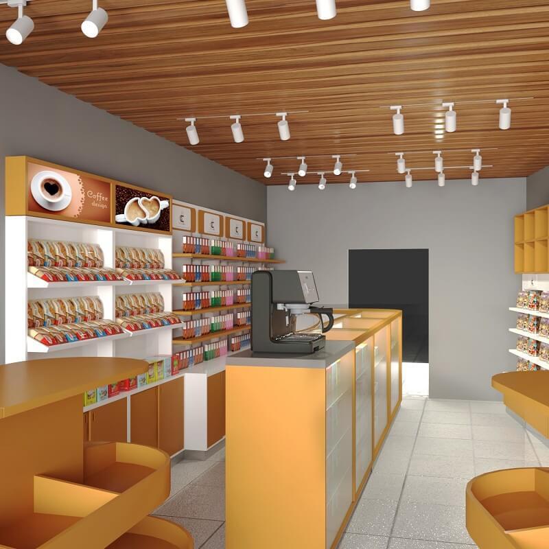 coffee display counter