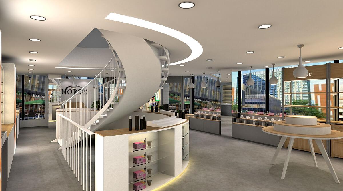 skin care store design