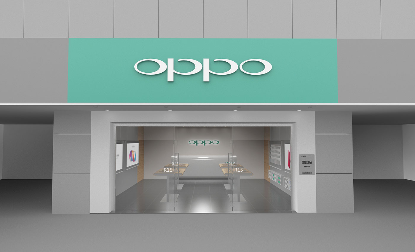 OPPO cell phone shop design