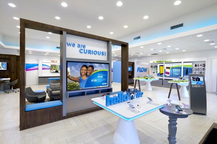 Telecom Store Front Desk Design