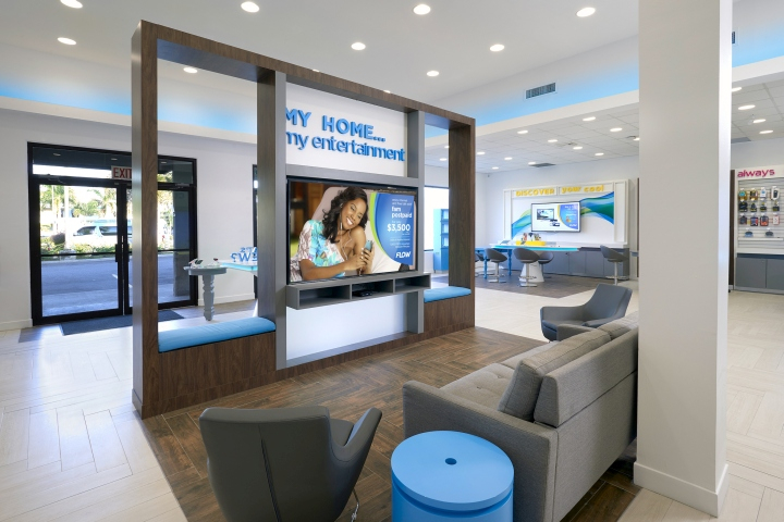 Telecom Store Resting Area Design
