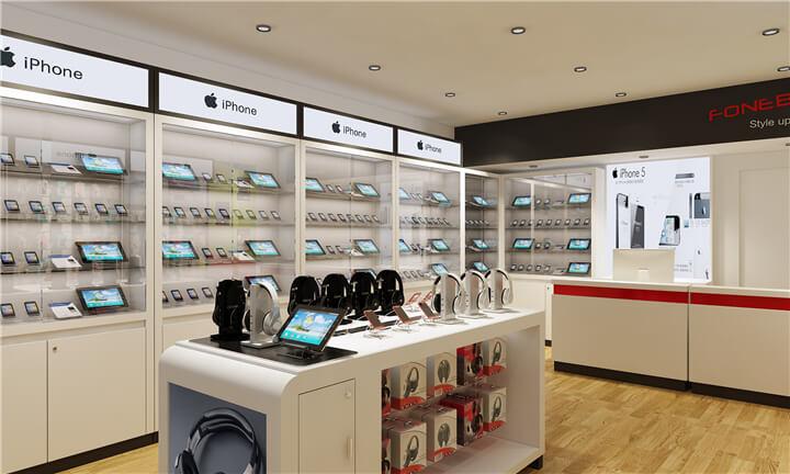 small  mobile accessory store design
