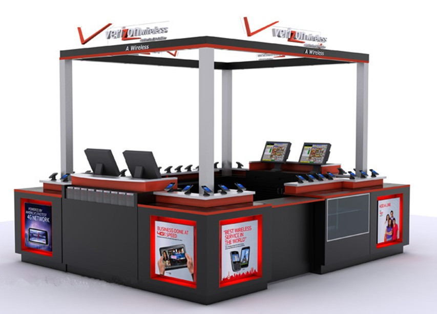 retail kiosk in mall