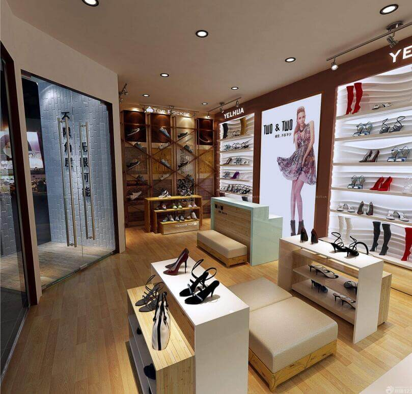 shoes store displays