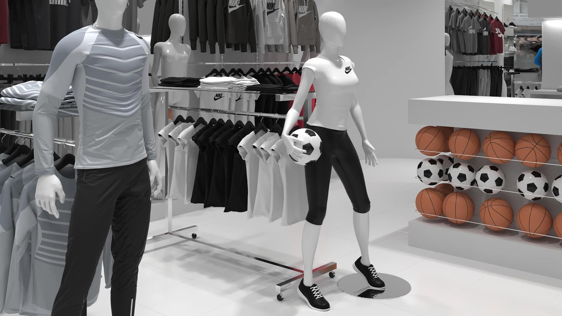 sportwear shop design