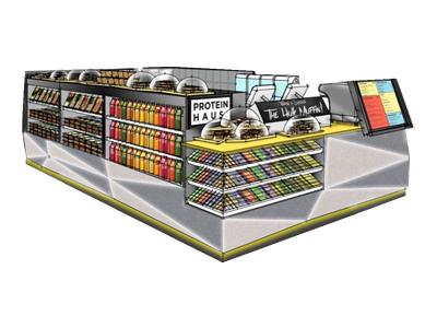 protein display kiosk