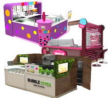 bubble tea kiosk design
