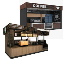 coffee kiosk in mall
