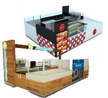 crepe& waffle kiosks in mall