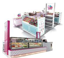 macaron cupcake kiosk