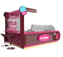 ice cream shop in mall