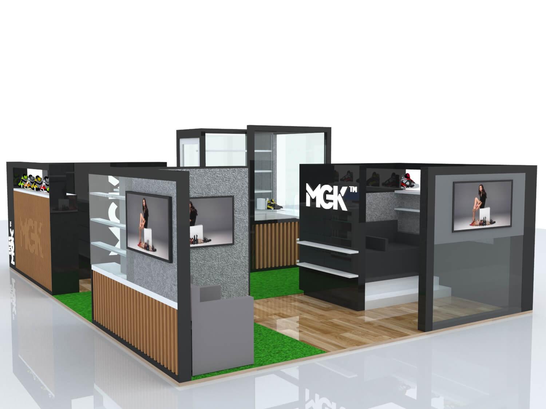 mall shoe kiosk