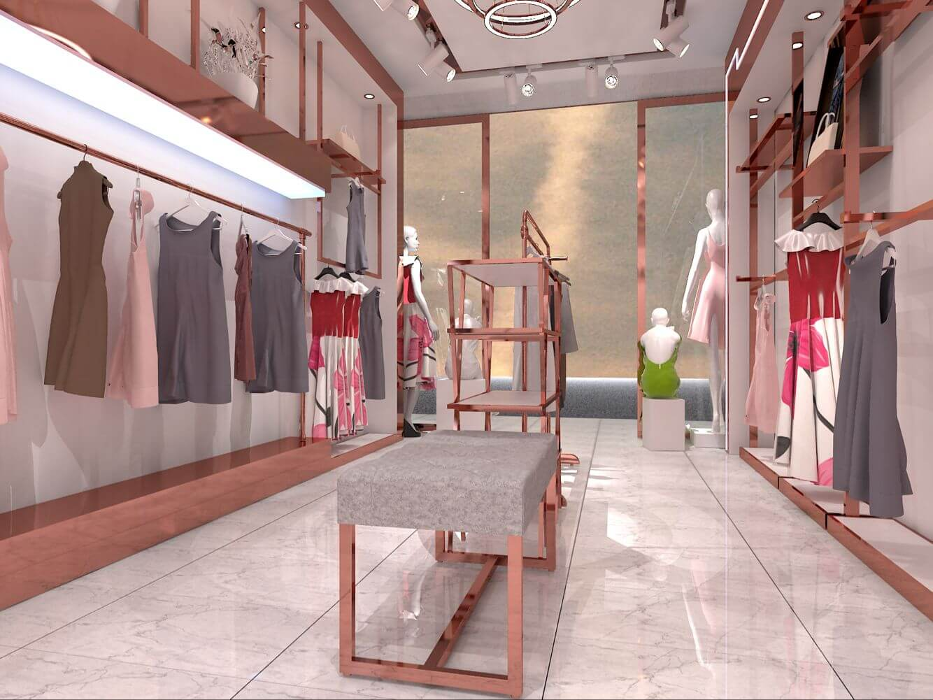 Clothing display racks