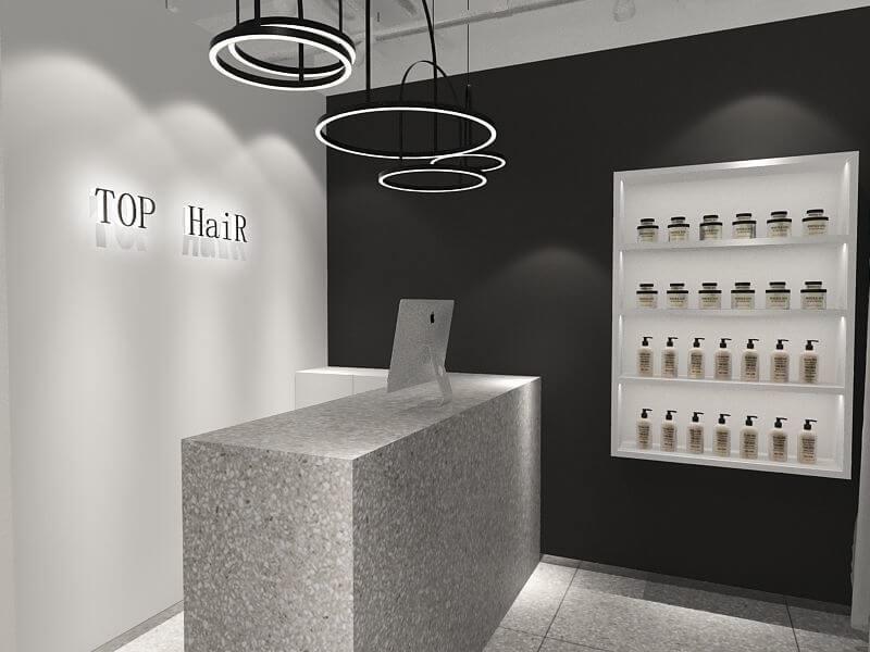 Salon shop reception counter