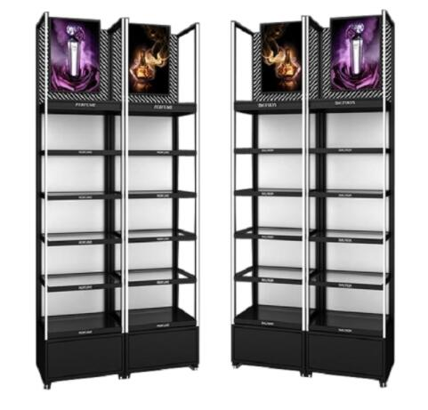 cosmetic display shelves