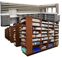 pharmacy casework storage furniture