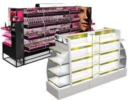 Gondola Cosmetic display shelves