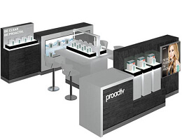 Cosmetic Kiosk Booth In Mall