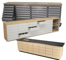 pharmacy drawer bench