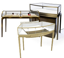 Curved Jewelry Display Cases