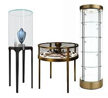 Round Jewelry Display Cases