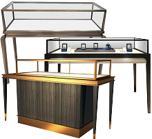 Stainless Steel Jewelry Display Showcase