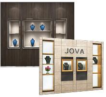 Wall mounted Jewelry Showcase