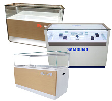 mobile store display cases