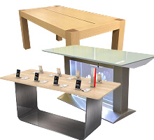 mobile store display table