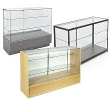 pharmacy glass showcase