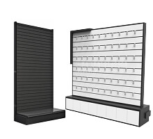 mobile shop slatwall display