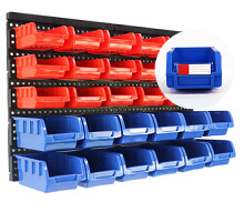 pharmacy wall mount bins & racks