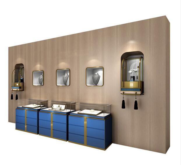 wall display cabinet for jewelry store