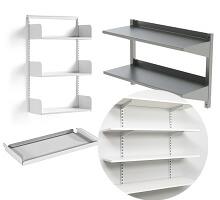 pharmacy wall mounted shelves