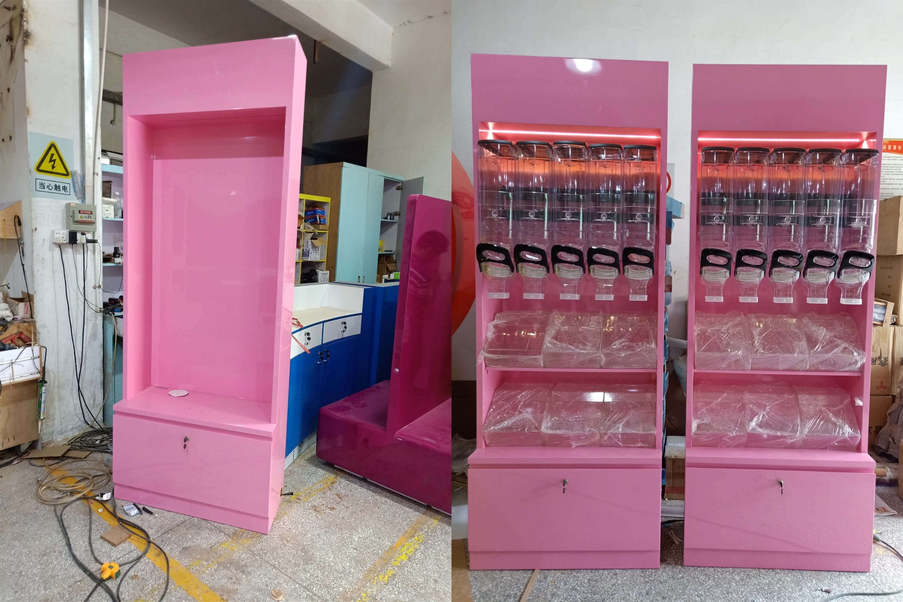 candy shop cabinet