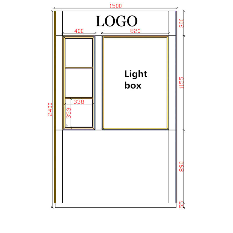 wall cabinet size