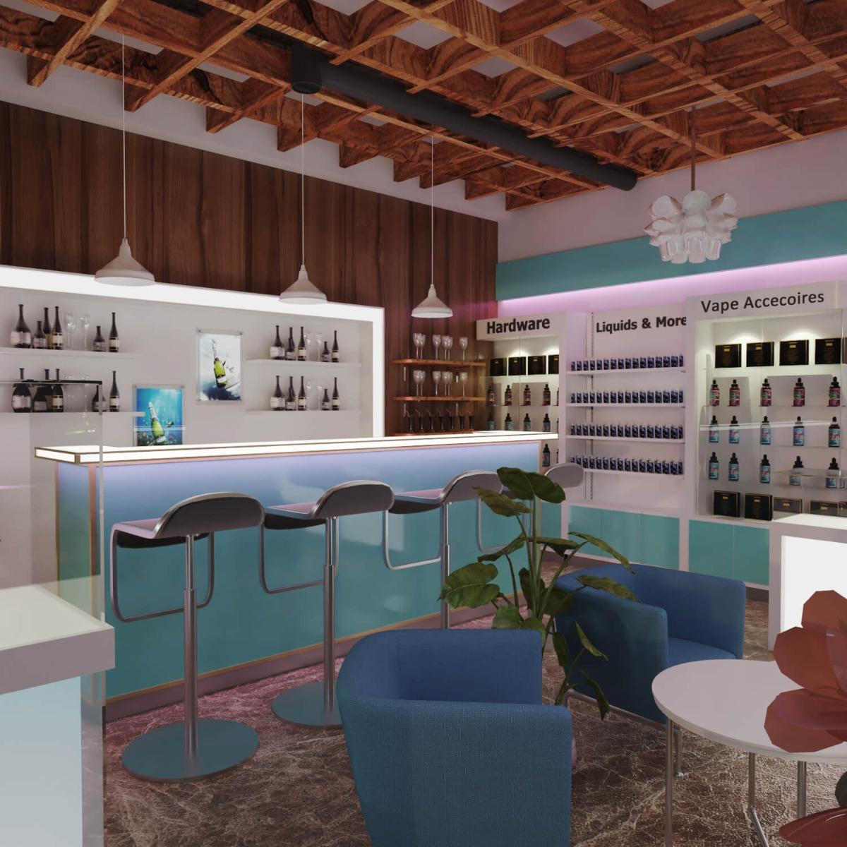 vape shop furniture