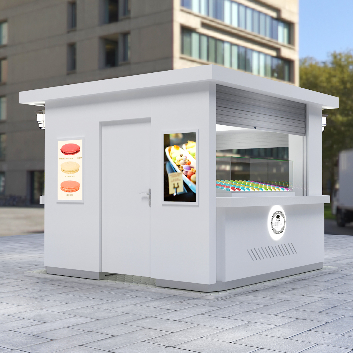 macarons kiosk