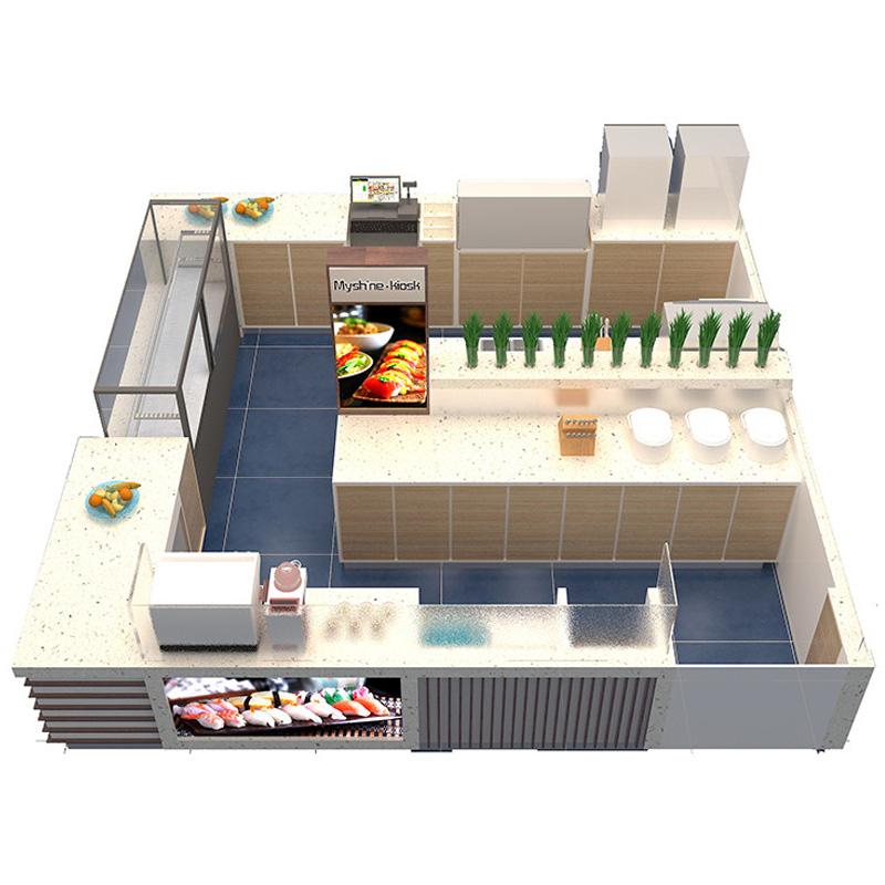Sushi kiosk fast food kiosk