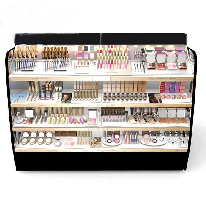 makeup display counter