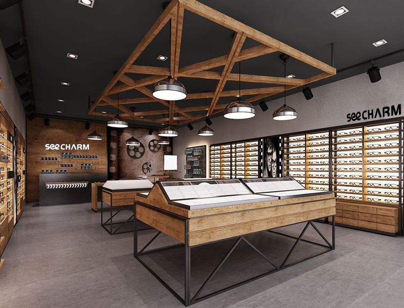 Sunglasses store interior design