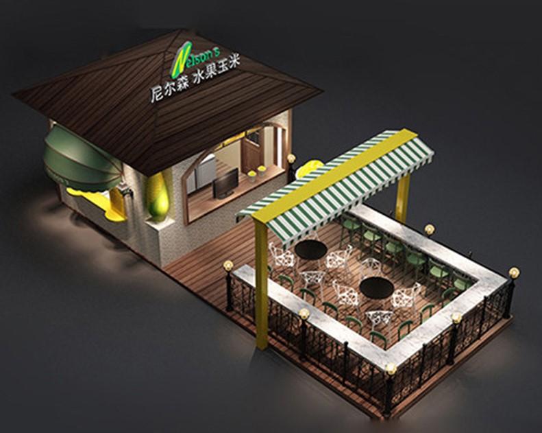 Outdoor corn kiosk